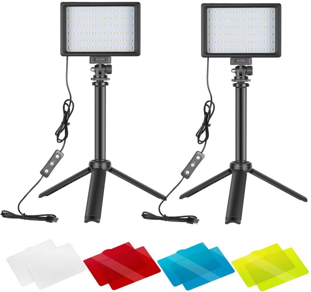 Neewer 2 Packs Portable Photography Lighting Kit