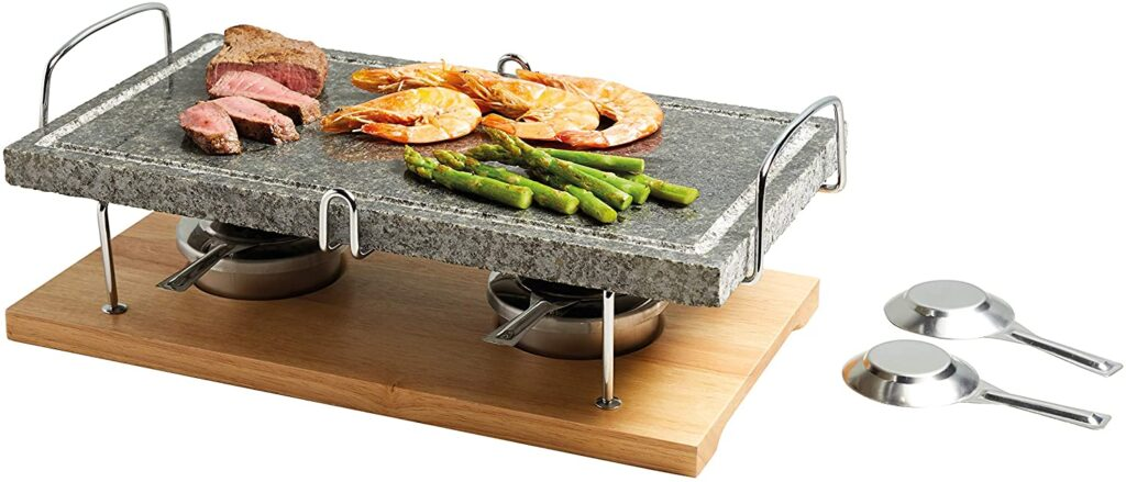 Best Gifts for Foodies, Cooks and Foodstagrammers- Artesa Hot Stone Grill in Gift Box, Marble, 41.5 x 22 x 15 cm