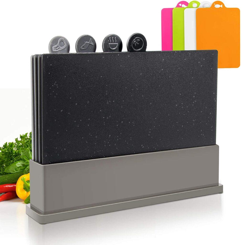Professional Cook Non Slip Index Plastic Cutting Board Set