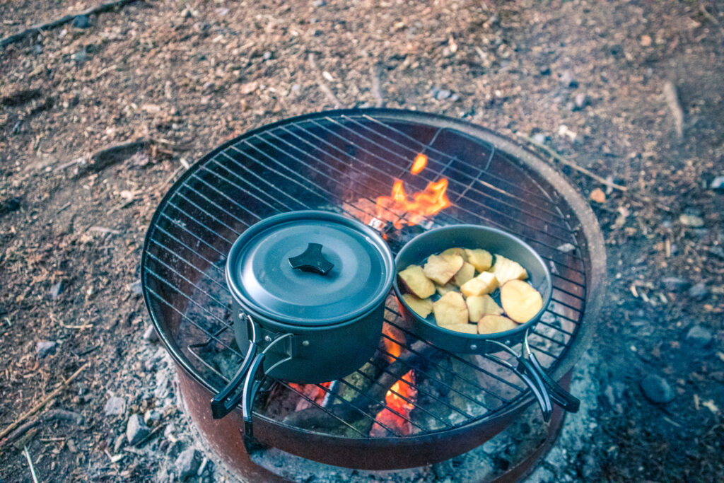 camping cooking - One Epic Road Trip Blog