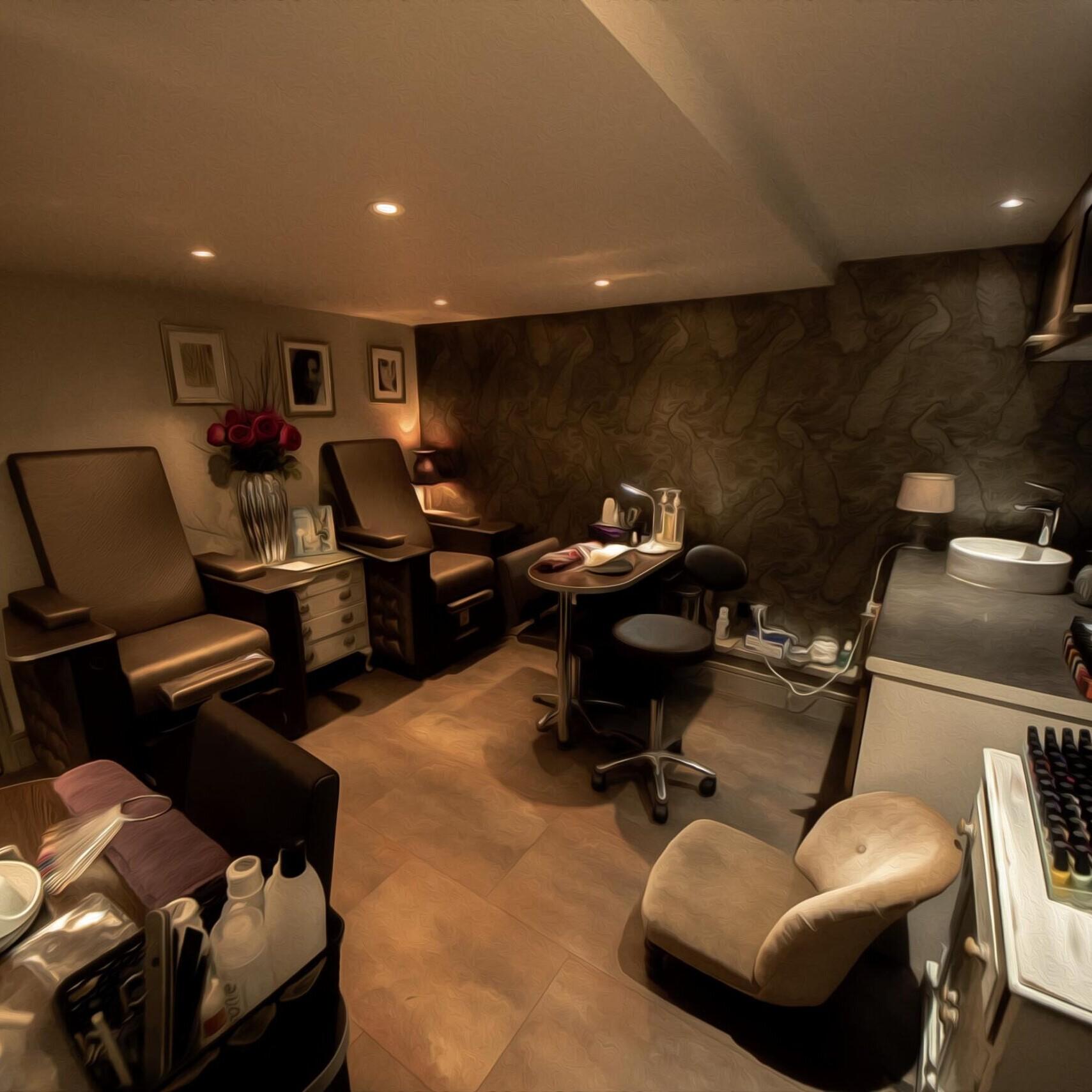 Our Beauty Salon Manicure/Pedicure Area in Amersham