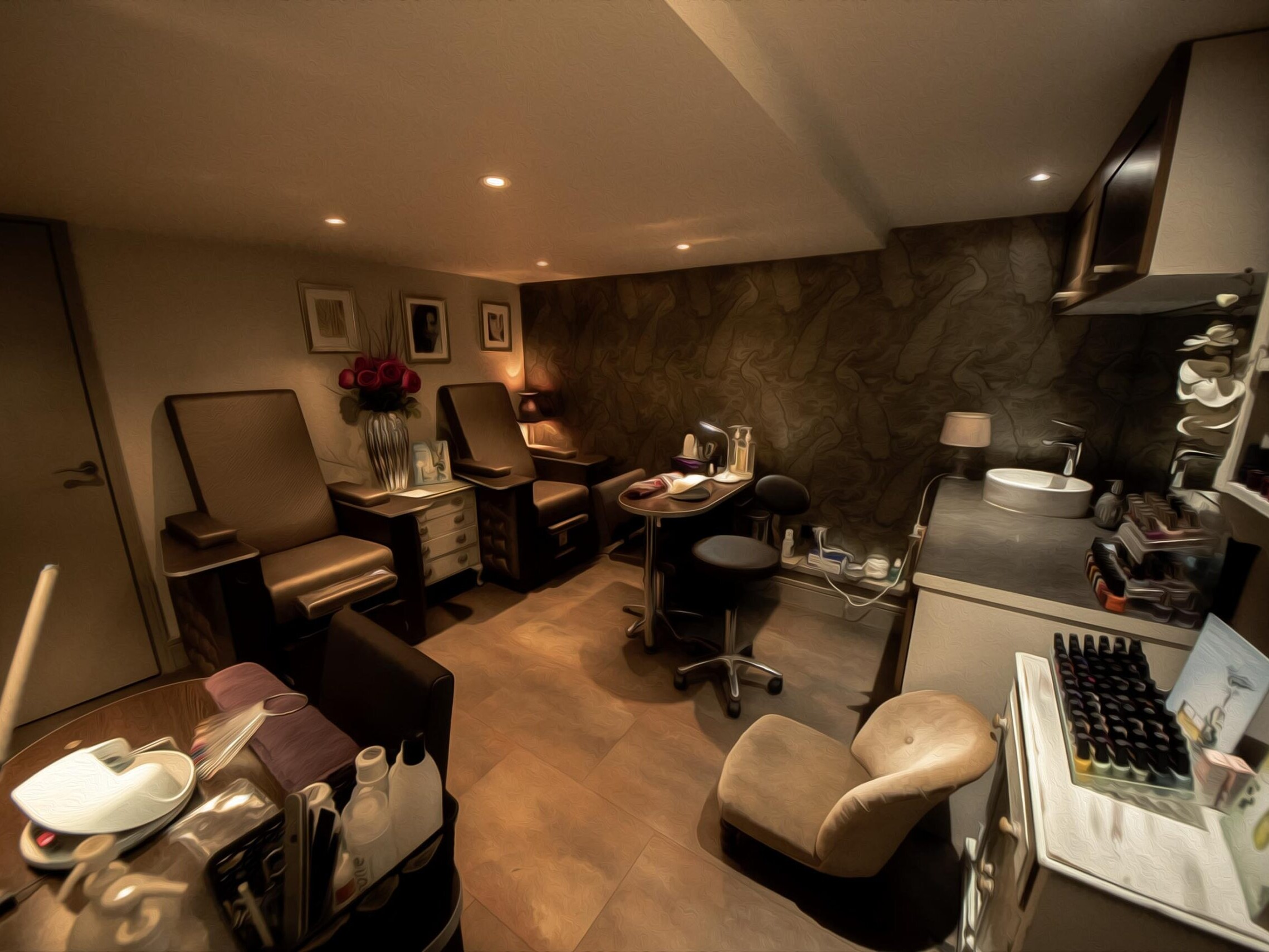 Our Beauty Salon Manicure/Pedicure Area in Amersham