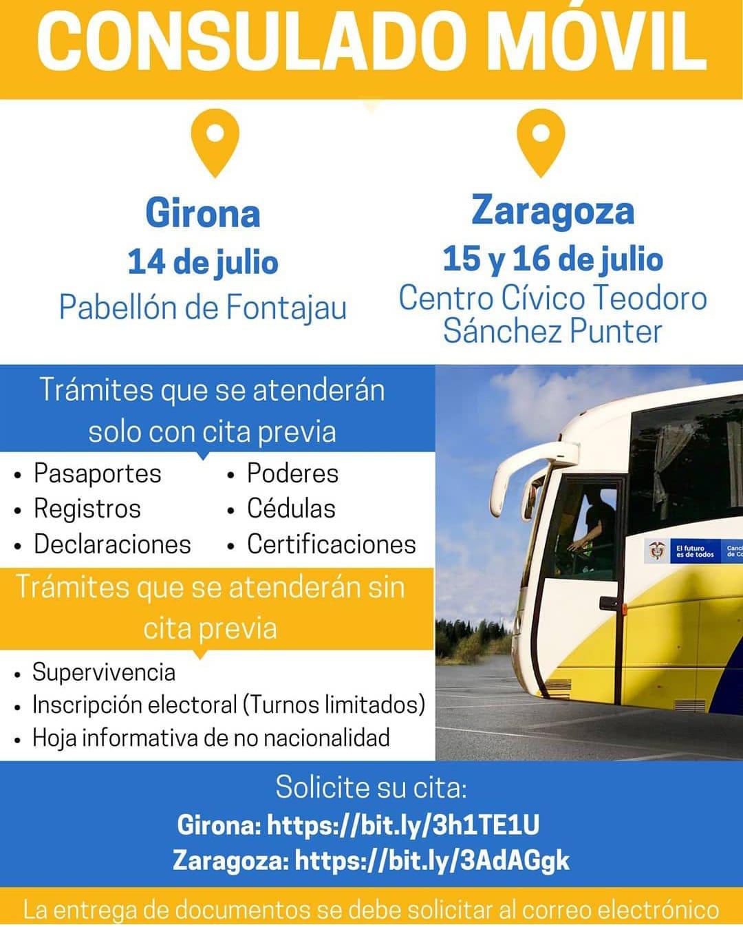 Consulado Móvil. 14 de julio en Girona