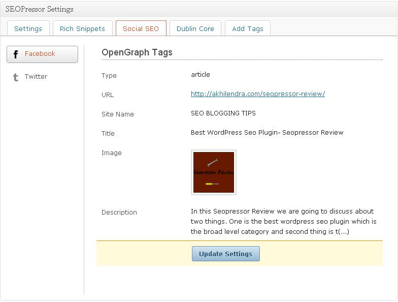 facebook opengraph tags in wordpress