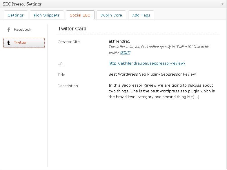 WP Twitter card