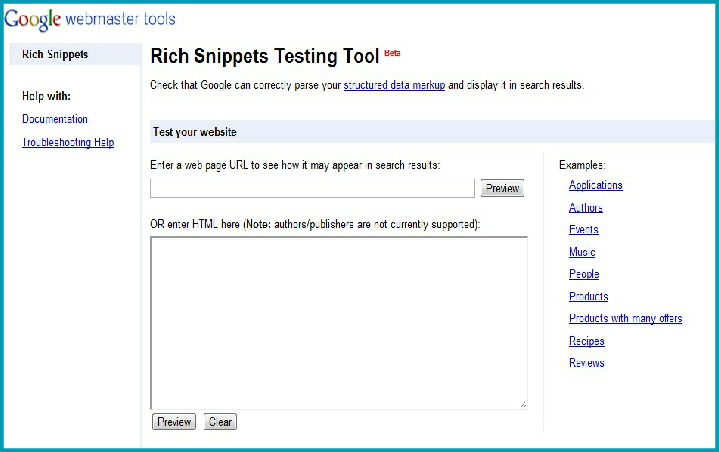 Rich Snippet Testing Tool Google Webmasters SEO
