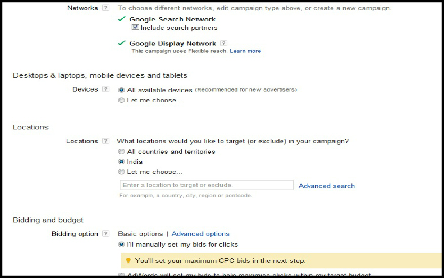 how to configure your google adwords campaign