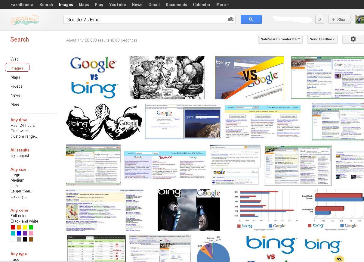 Google Image Search for Google Vs Bing