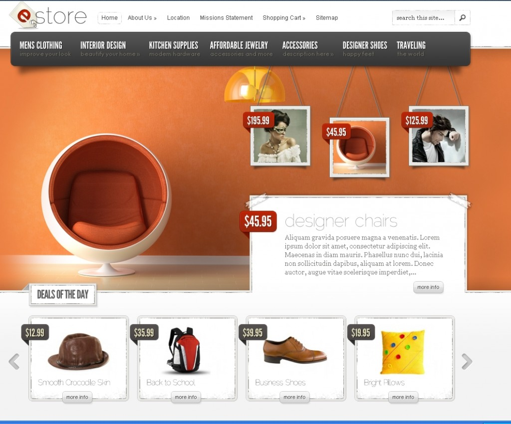 estore ecommerce theme from elgant themes
