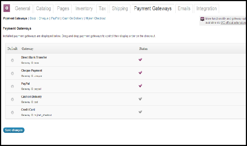 woocommerce plugin wordpress ecommerce payment gateways