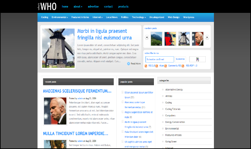 whoswho wordpress seo theme