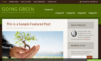 Going green wordpress business theme