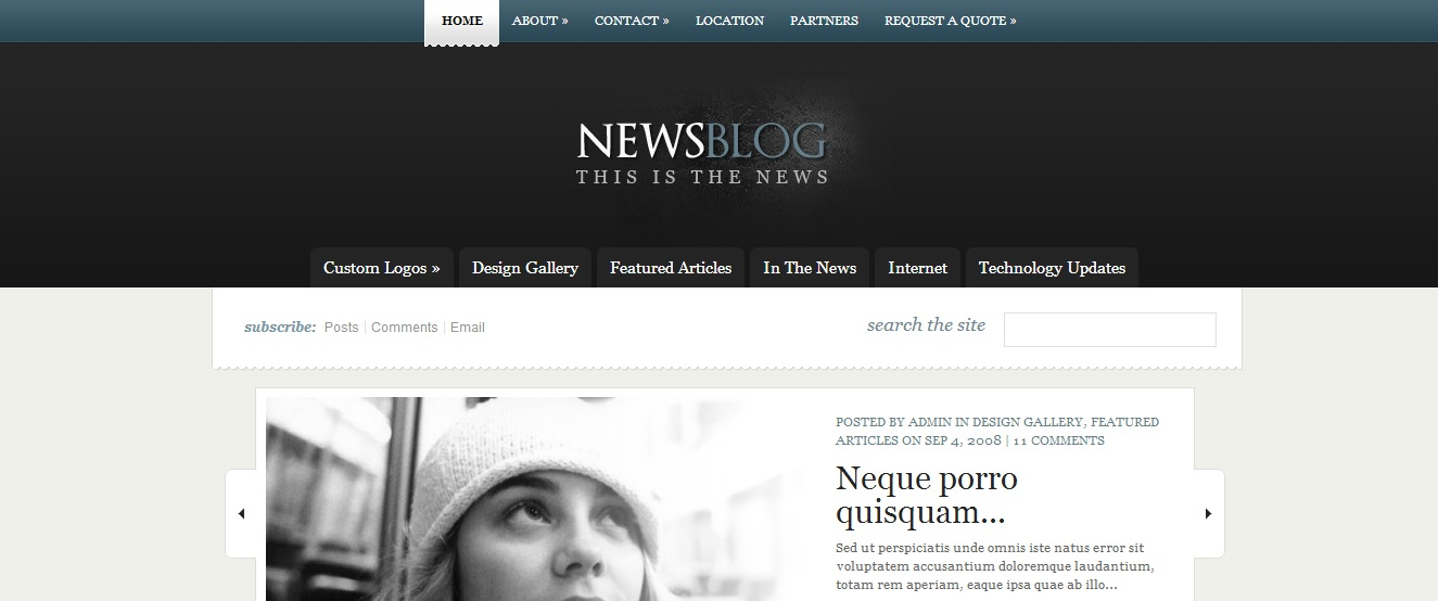 enews wordpress magazine theme