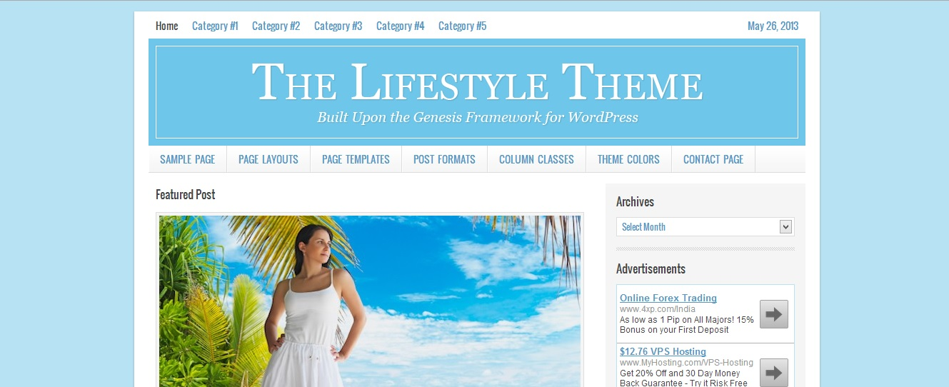 lifestyle theme from studiopress