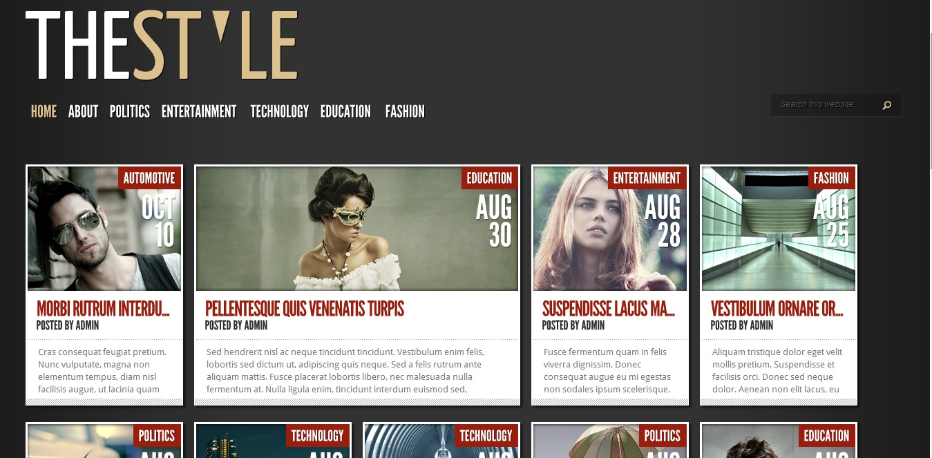 thestyle wordpress magazine theme