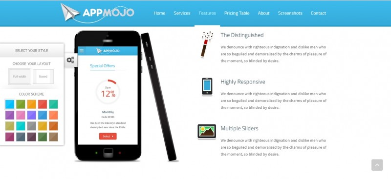 App Mojo - Single Page Software Promotion template