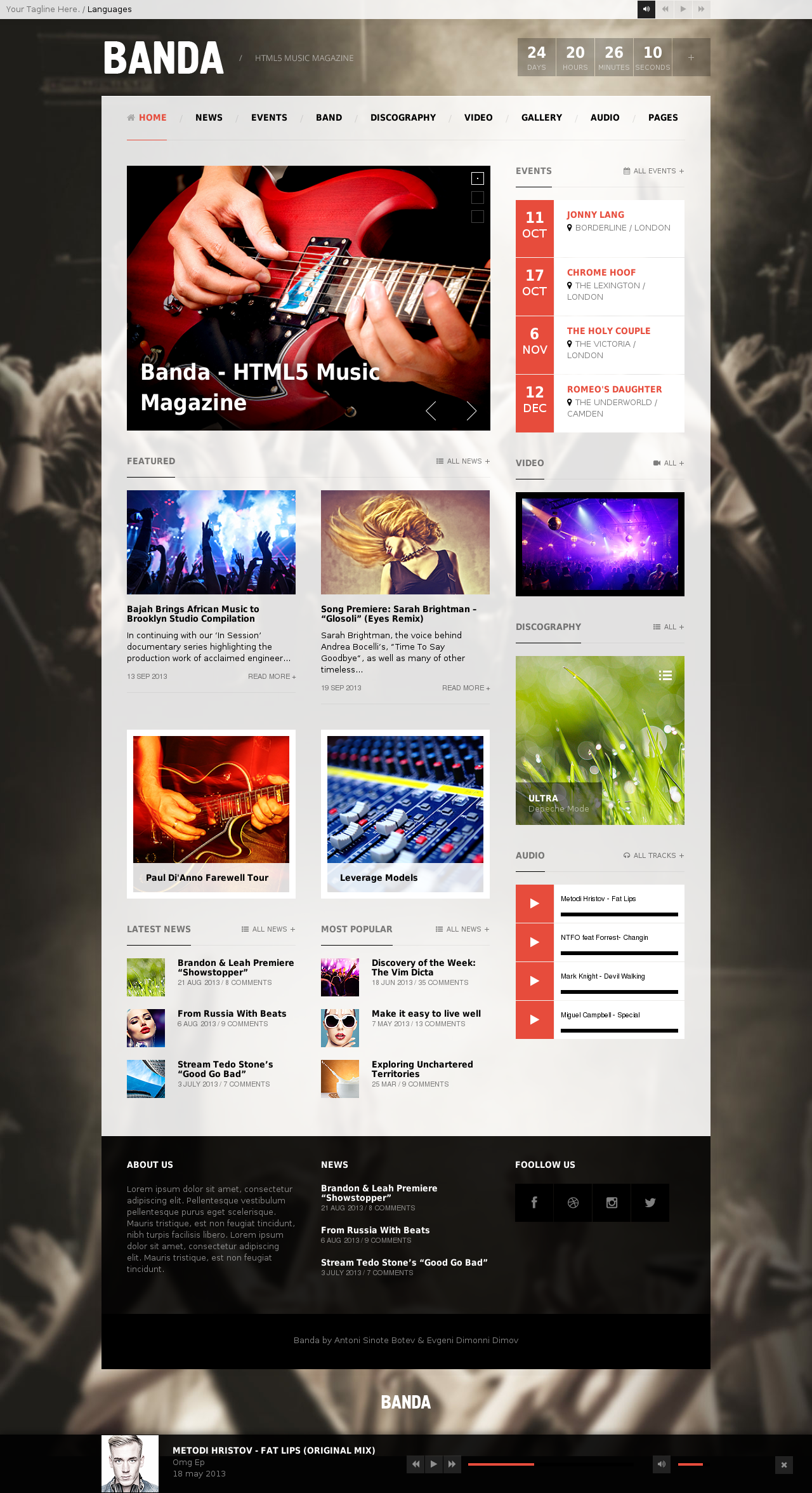 Banda - HTML5 Music website template