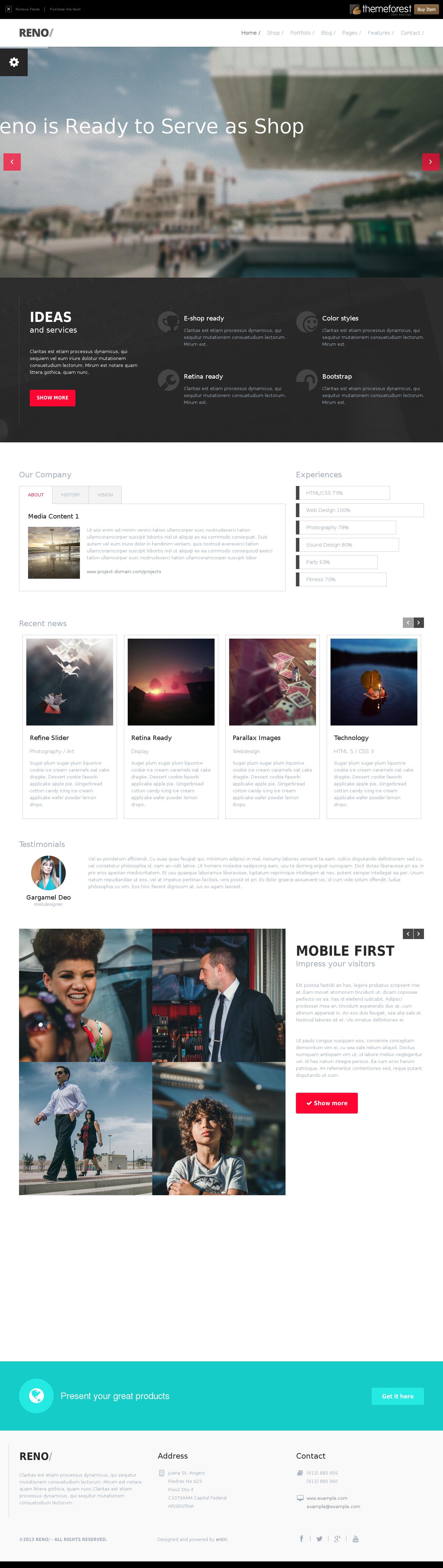 Reno - Responsive MultiPurpose HTML5 Template