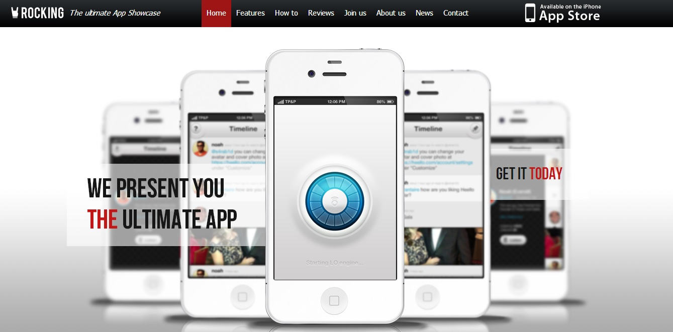 Rocking Parallax iPhone App HTML5 Template