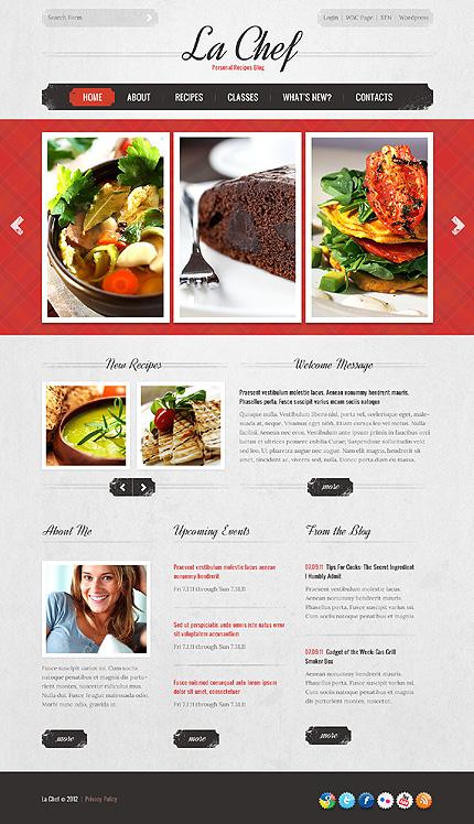 food & recipe blog theme