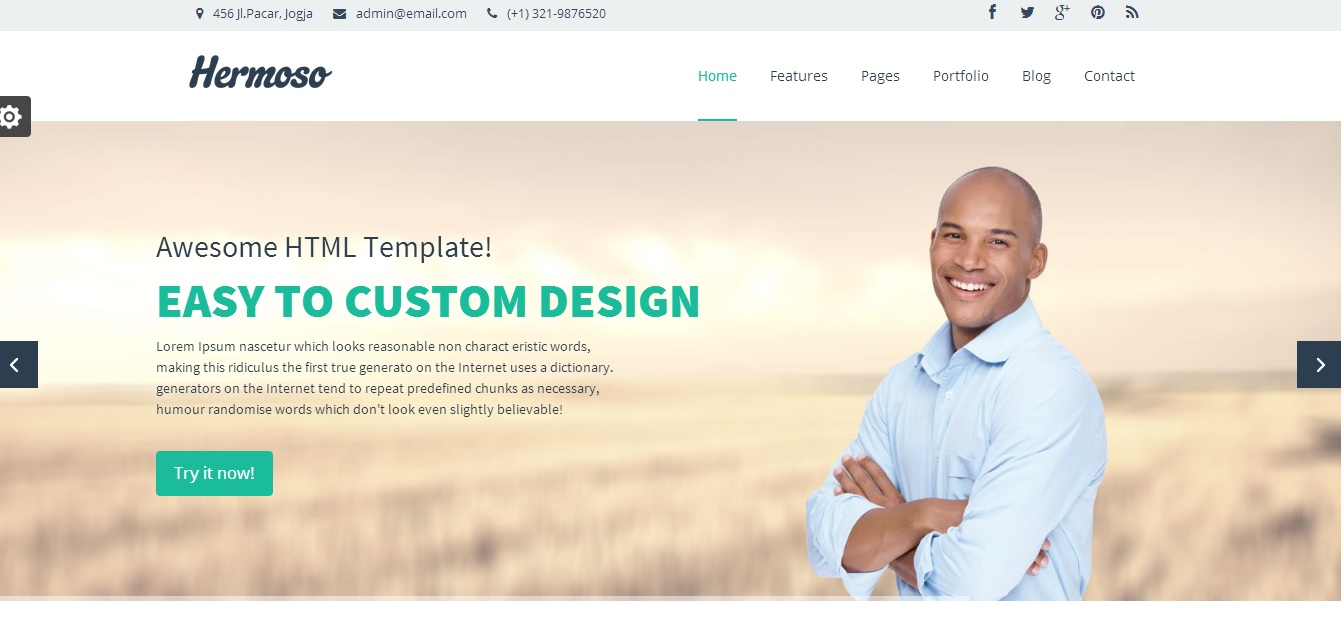 hermoso html website templates