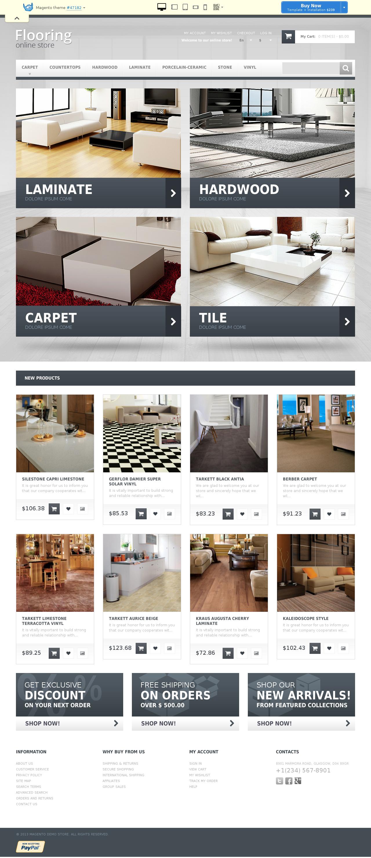 Durable Flooring Magento Theme #47182