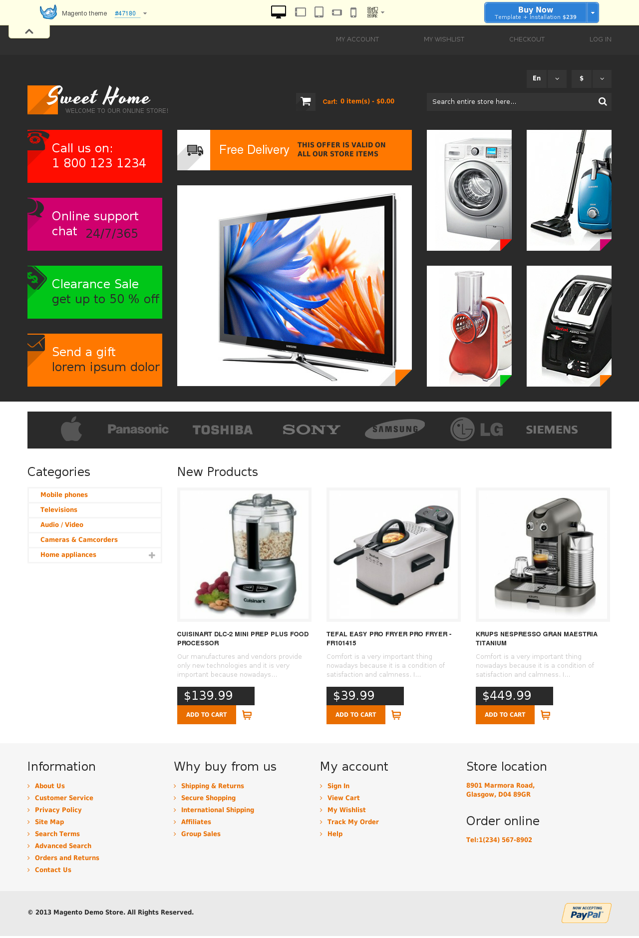 Sweet Home Magento Theme #47180