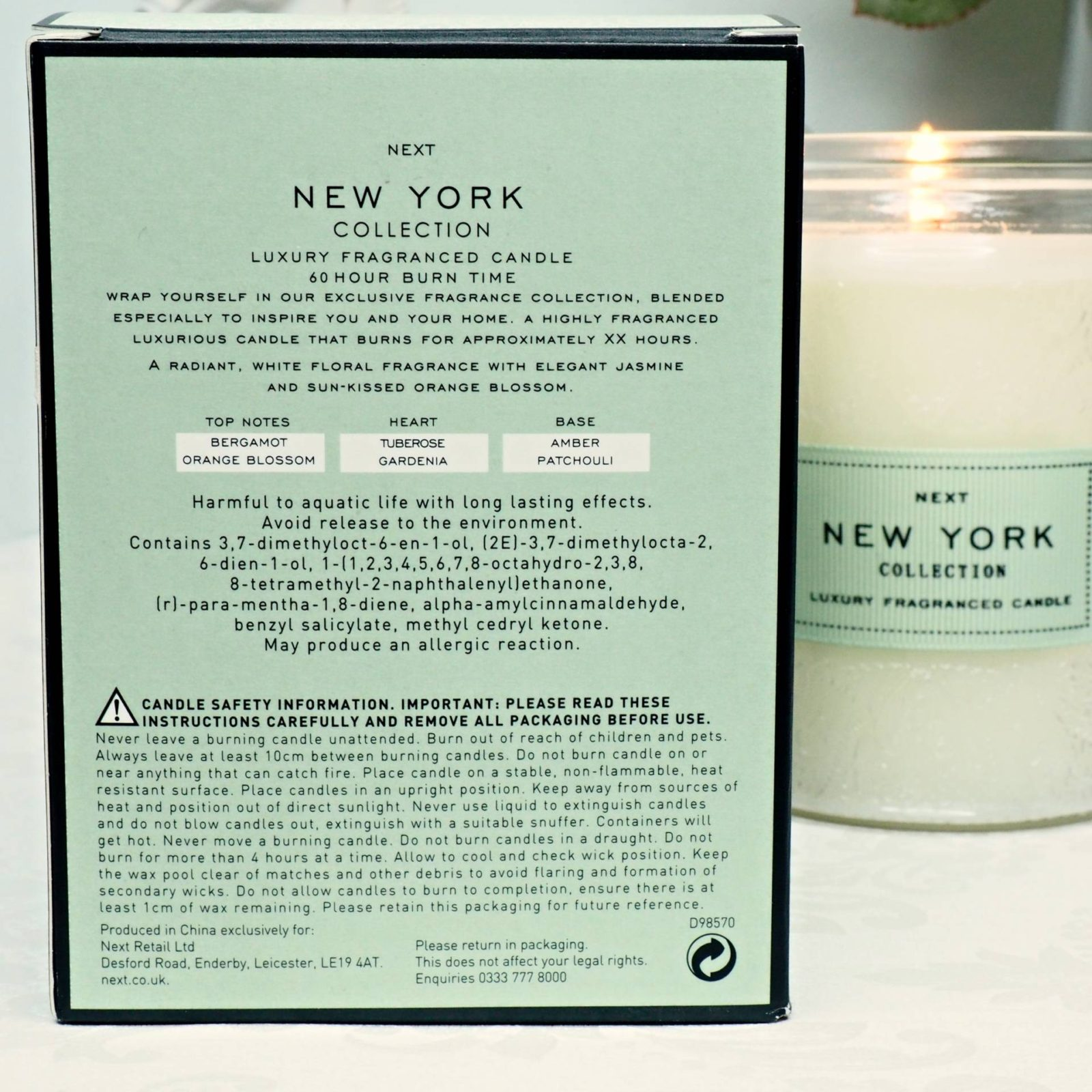 Next New York Candle House of Paper Doll