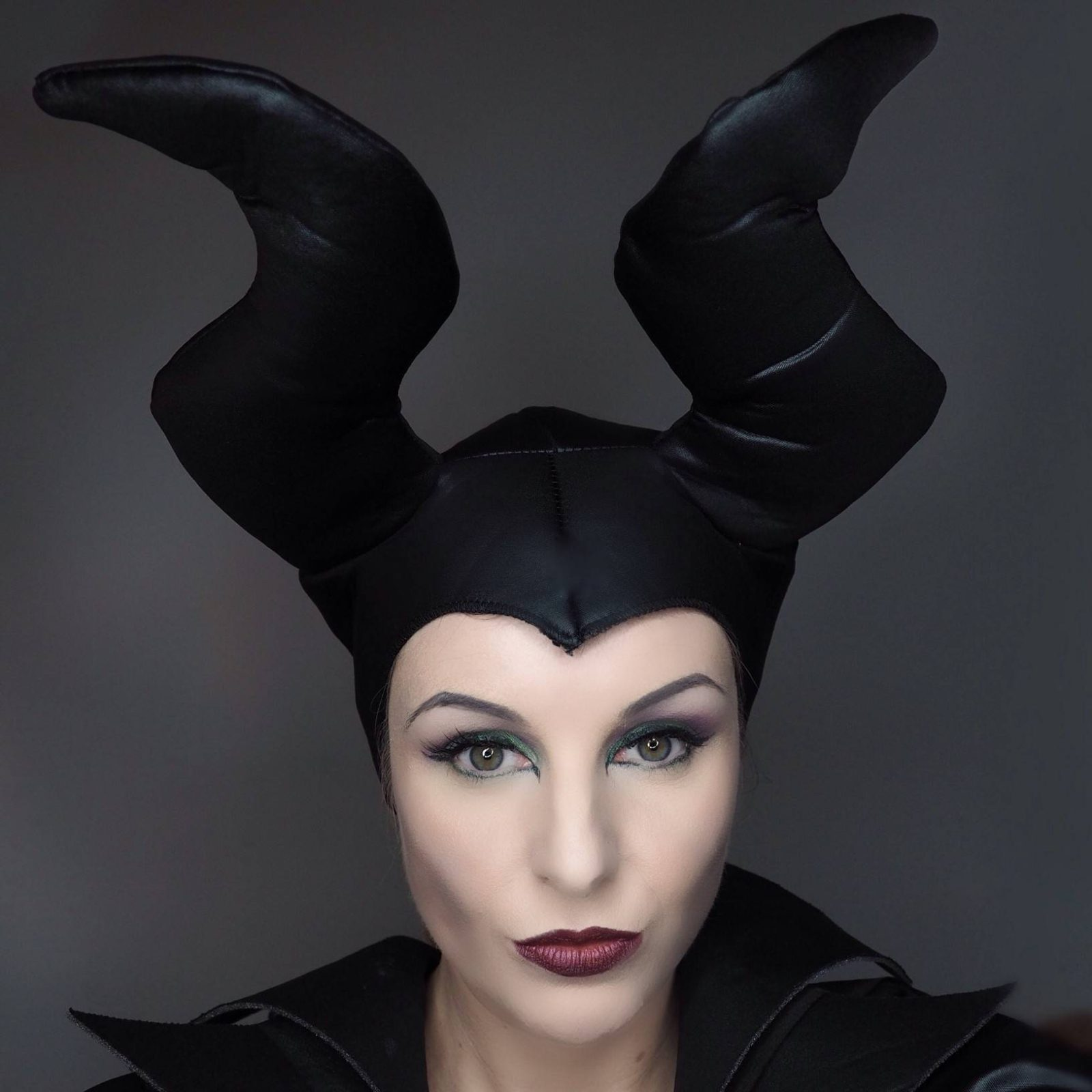 House of Paper Doll Maleficent Halloween Makeup