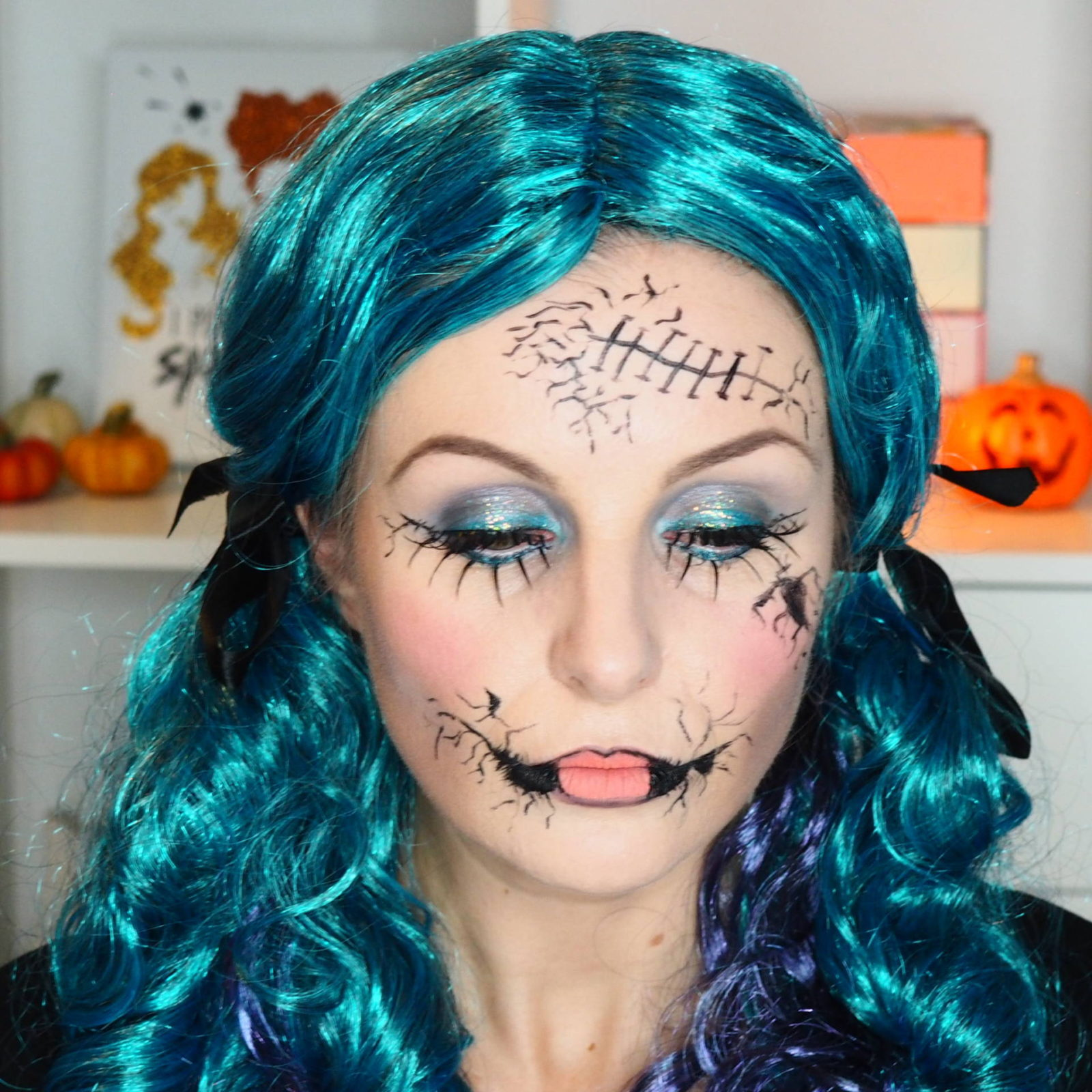Halloween Doll Makeup Look