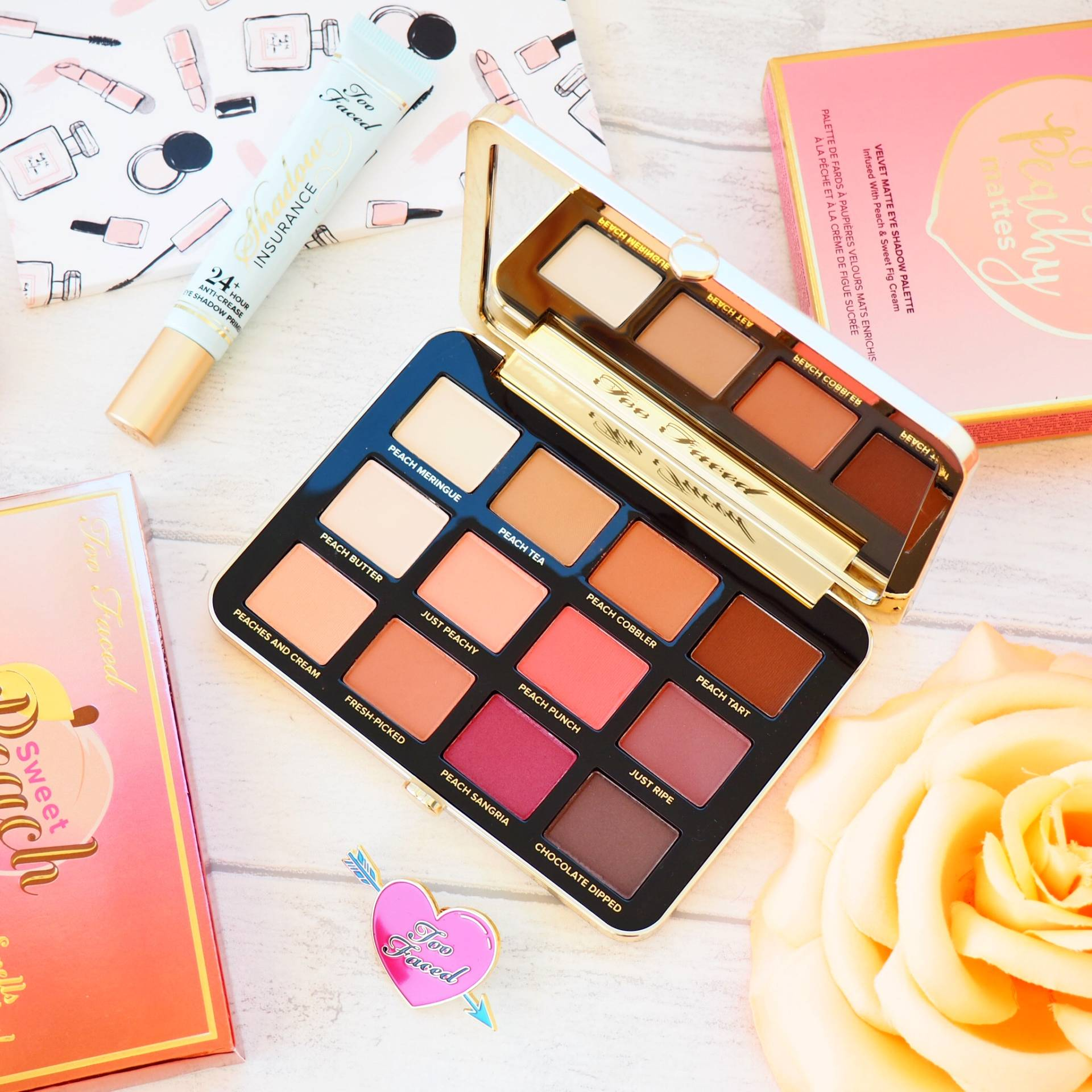 Too Faced Just Peachy Mattes Palette Review