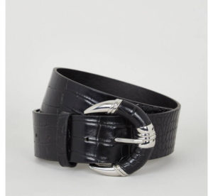 New Look Black Snake Effect Belt