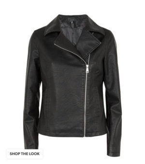 New Look Black Leather Look Vegan Jacket
