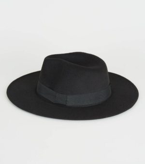 New Look Black Fedora Hat