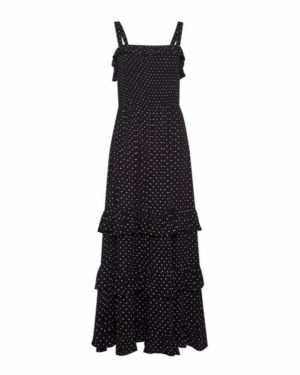 Dorothy Perkins Black Spotty Frill Dress