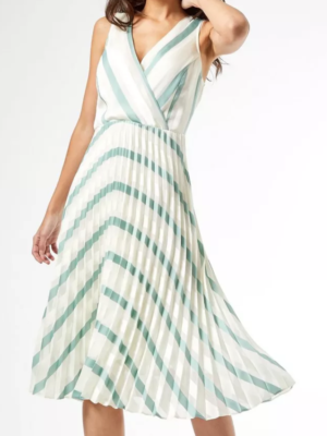 Dorothy Perkins Green and White Dress