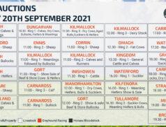 Online Auctions – Monday Calendar 20/09/2021