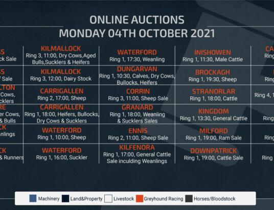 Online Auctions – Monday Calendar 04/10/2021