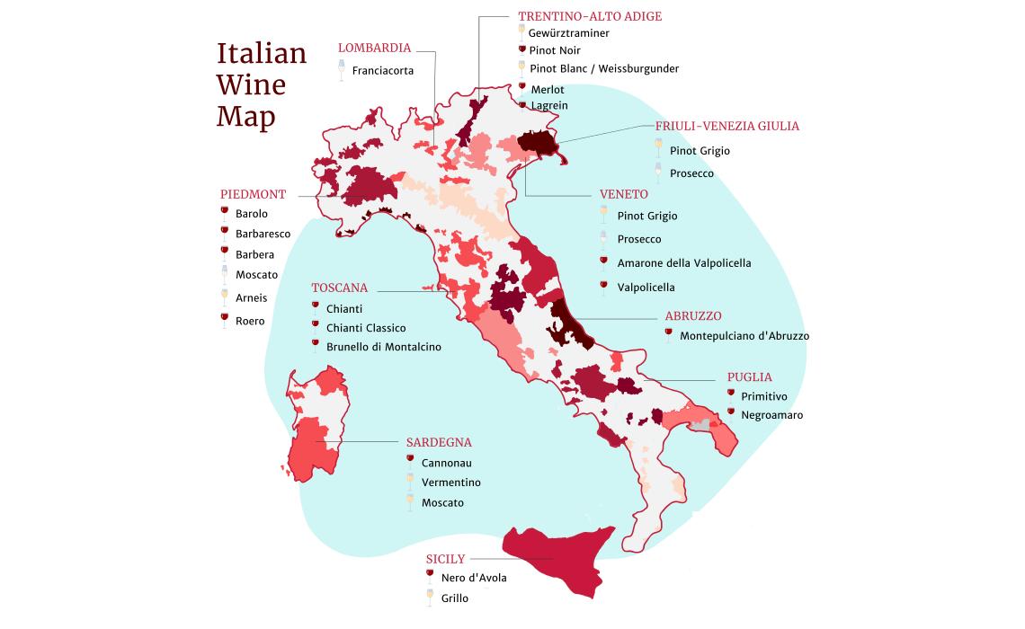 Italian wines Map