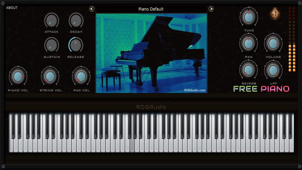 Free Piano VST VST Player RDGAudio AU Mac Rompler Synthesizer