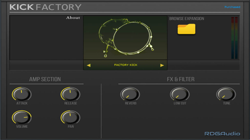 Kick Factory RDGAudio AU VST VST3 Instruments