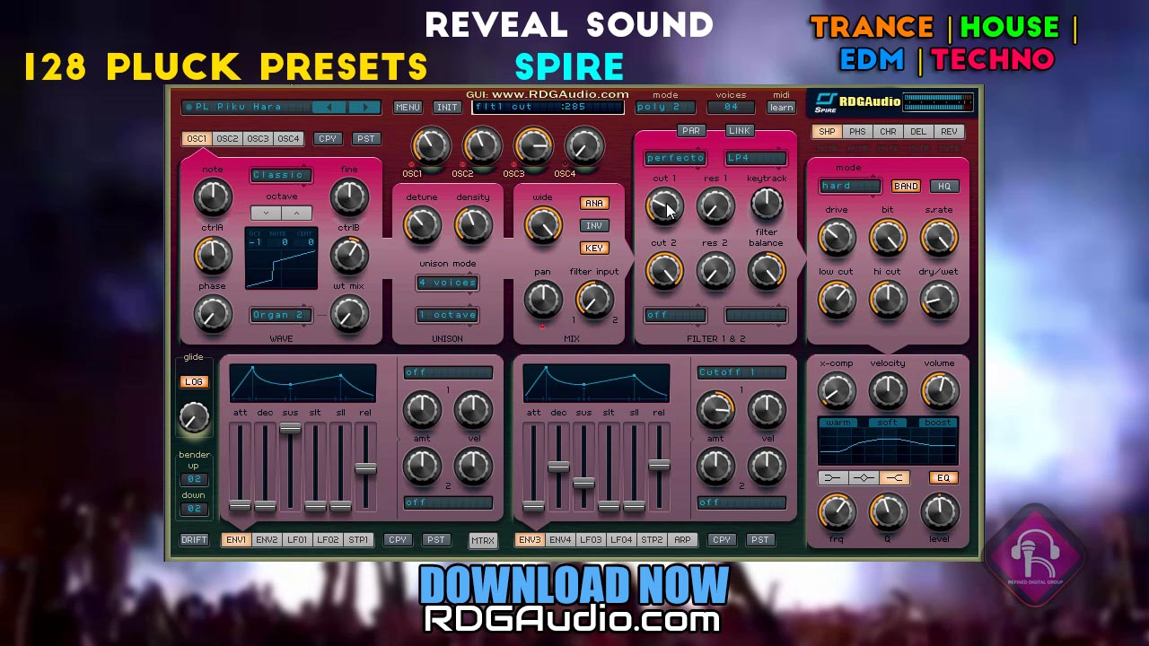 Essential Pluck Reveal Sound Spire 128 presets