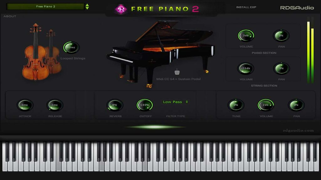 RDGAudio Free Piano 2 FirstLook 720p
