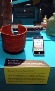 samian bowl and iphone
