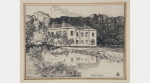 drawing of Hitchin Priory by F L Griggs