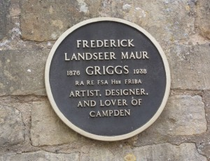 plaque for F L Griggs