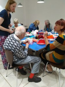 One of craft sessions for people with dementia and their carers