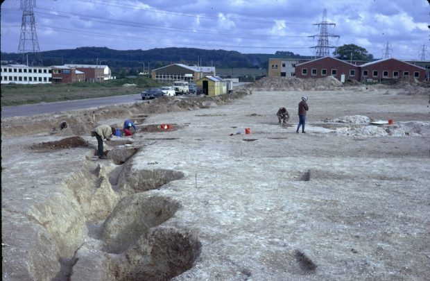 Excavations at Blackhorse Road, Letchworth Garden City, in 1973