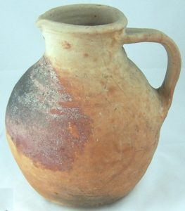 A slip-painted jug found at Caldecote