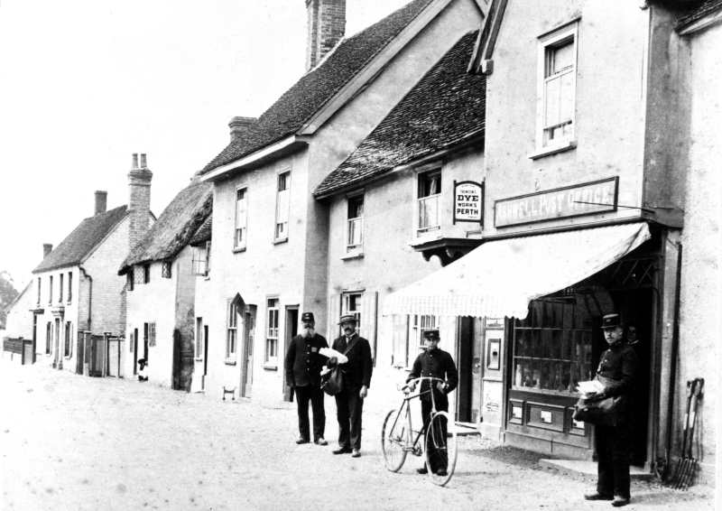 Ashwell Post Office, about 1896